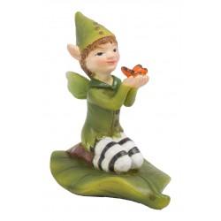 Knielende blad fairy