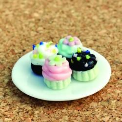 Bord met cupcakes