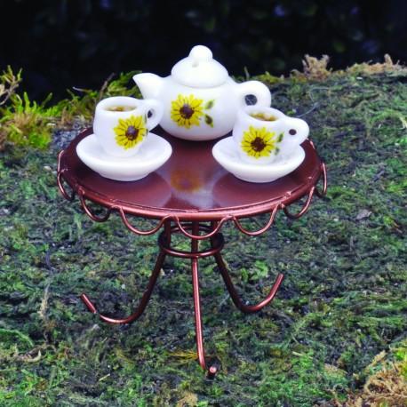 Porseleinen theeset (3-delig) (zonder tafel!)