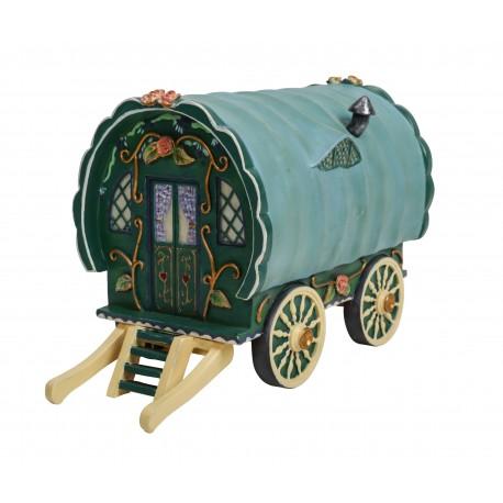 Woonwagen (groen/blauw)