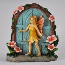 Fairy door met flower fairy Blauw