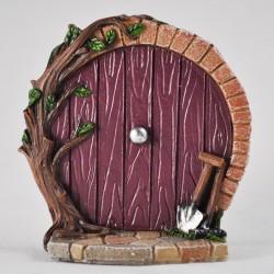 Fairy door rond hobbit stijl