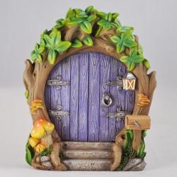 Fairy door (XL) Paarse bosdeur