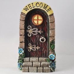 Fairy door (XL) Welkom boven bruine deur met trap