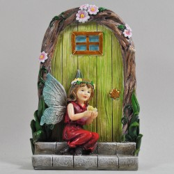 Fairy door (XL) Fairy zittend op de trap