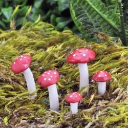 Fairy garden vliegenzwammen (5-delig)