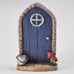 Fairy door (small) Blauw met emmer
