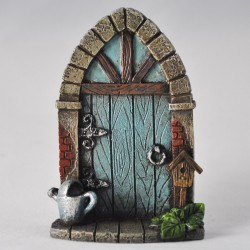 Fairy door (small) vakwerk deur blauw