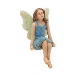 Zittende fairy (blauw jurkje)