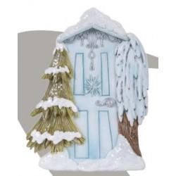 Sneeuw fairy door (ijsblauw)