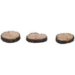 Stapsteentjes met houtlook (3st)