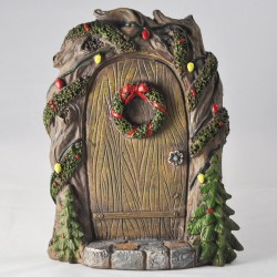 Fairy door (L) Wintersfeer in hout