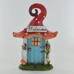 Fairy door Magische paddenstoel met rechte deur