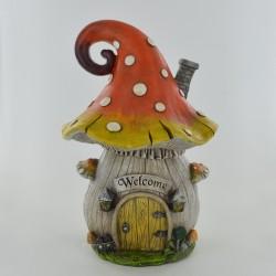 Magische paddenstoel met paars dak