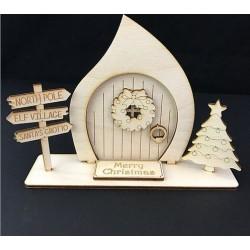 Houten Kerst Elven deur, staand