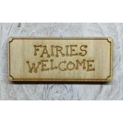 Houten fairy deurmat Fairies Welcome