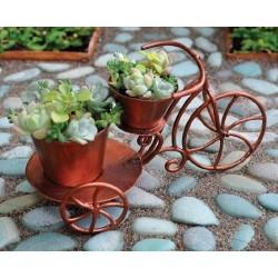 Driewieler met 2 plantenbakjes