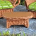 Rieten tafel bruin
