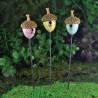 vogelhuisjes in eikel (3-delig)