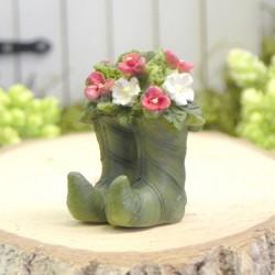 Bloemen in laarzen