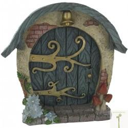Fairy door (L) Hobbit ronde deur blauw