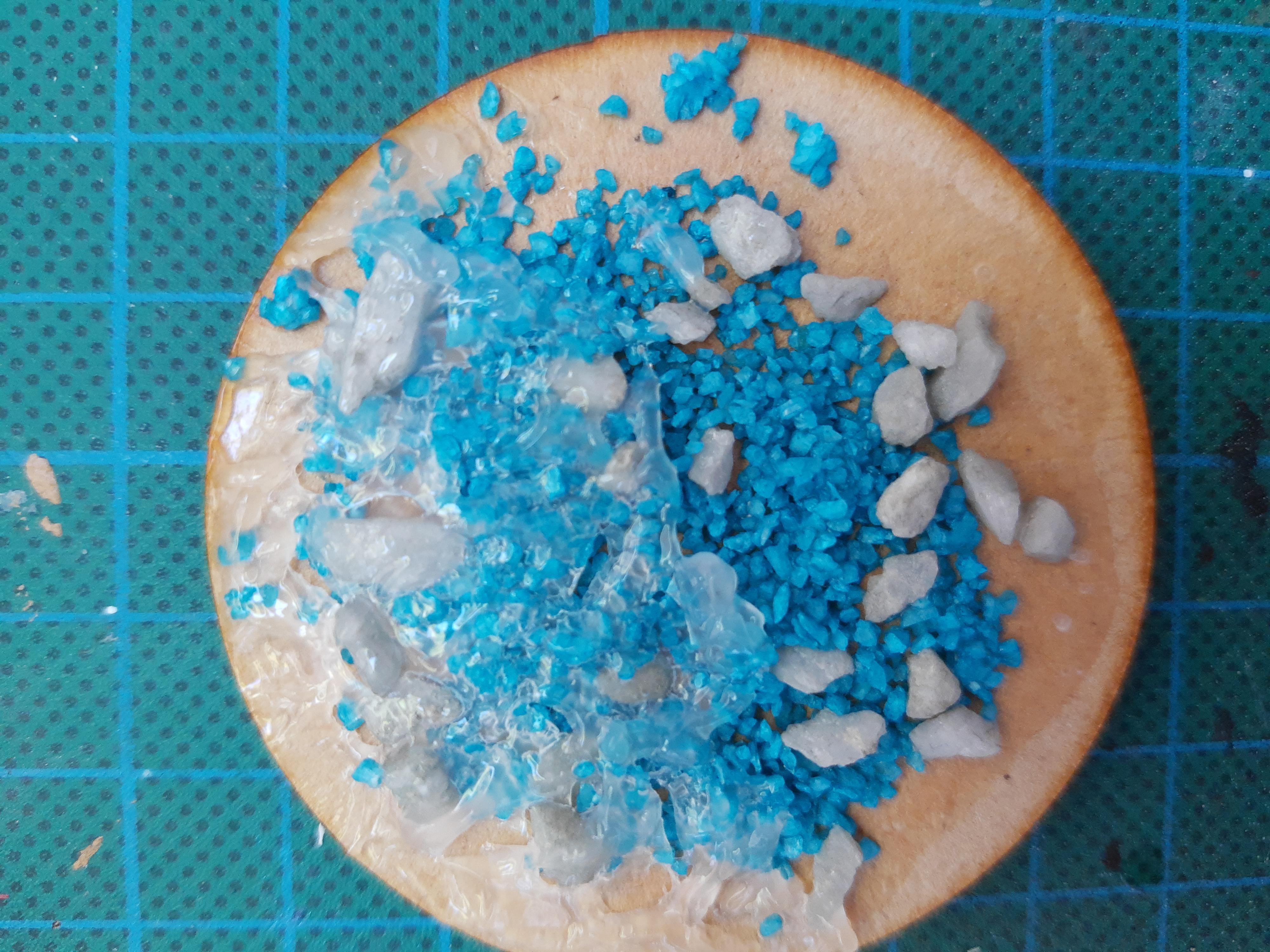 opgedroogd kristal gel