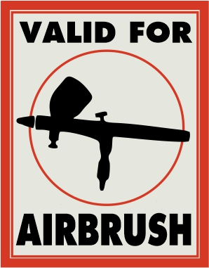 Valid for airbrush