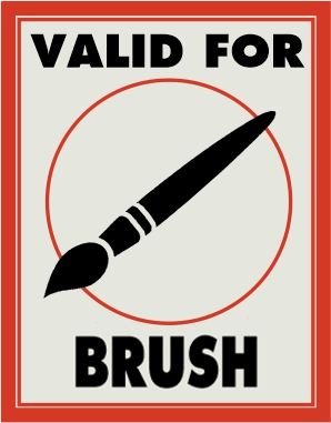 Valid for brush