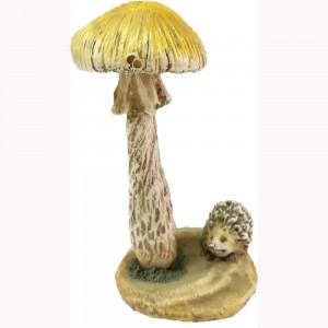 Woodland paddenstoel met egel