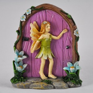 Fairy door met flower fairy Roze