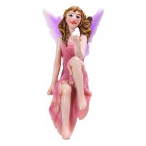 Fairy zittend roze jurk XL