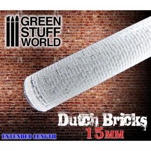 Rolling pin Dutch bricks 15mm - figuur roller Nederlandse klinkers 15mm