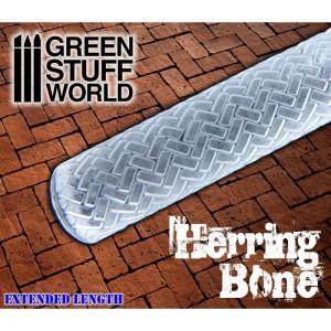 Rolling pin Herringbone - figuur roller Visgraatpatroon