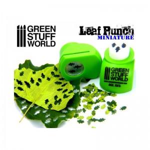 Miniatuur Pons 3 soorten Eikenbladeren (licht groen 1312)