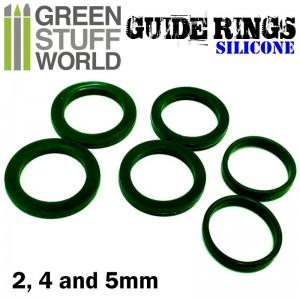Siliconen hulpringen (3 dikte maten) voor rolling pin-figuur roller