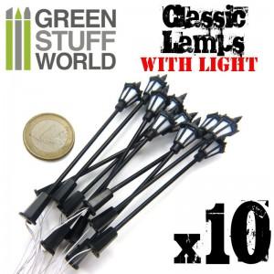 Klassieke lantaarns (set van 10) met LED verlichting
