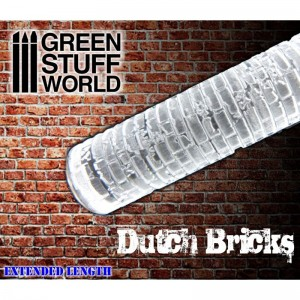 Rolling pin Dutch bricks - figuur roller Nederlandse klinkers