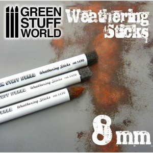 Weathering brushes - Sponskwasten 8mm (3st)