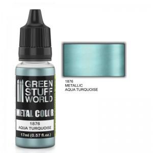 Metallic verf Aqua Turquoise