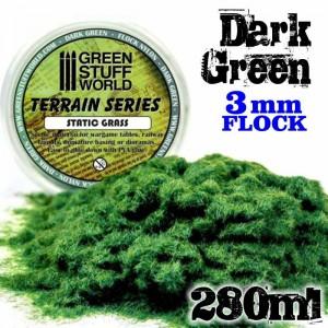 Static grass Donker groen 3mm