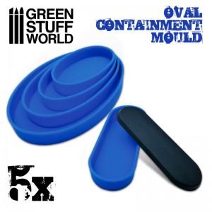 Set ovale mallen (5 st/5 verschillende maten)