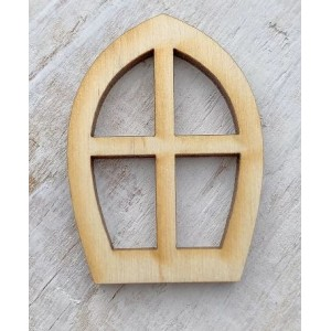 Houten fairy raam infula vorm