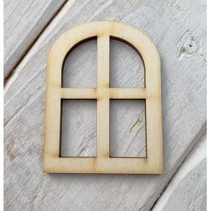 Houten fairy raam gebogen groot