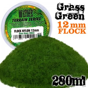 Static grass Grass green - gras groen12mm