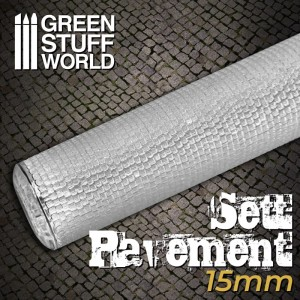 Rolling pin Sett pavement 15mm - figuur roller Straat 15mm