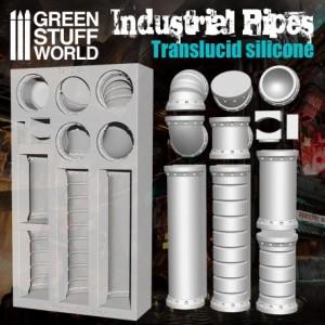 Siliconen mal Industriele pijpen (doorzichtig)