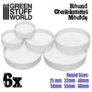 Set ronde doorzichtige mallen (6 st/6 verschillende maten)