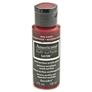 Dark Scarlet Americana Multi-Surface Satins 59ml