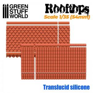 Siliconen mallen Dakpan 2 soorten 1/35 (54mm)