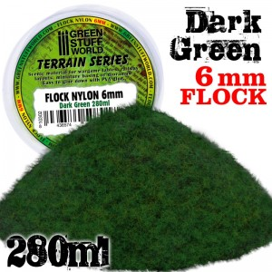 Static grass Dark green 6mm